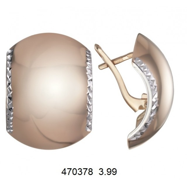 Золотые серьги 470378