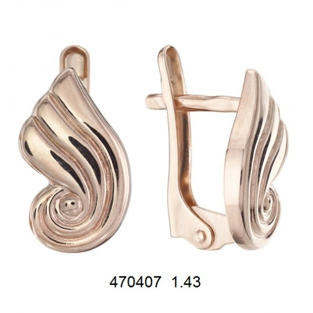 Золотые серьги 470407