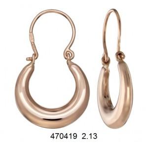Золотые серьги без камней 470419
