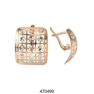 Золотые серьги без камней 470499