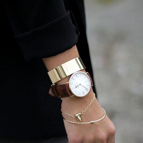 как носить браслет и часы