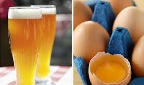 пиво и яичный белок для чистки золотой цепочки