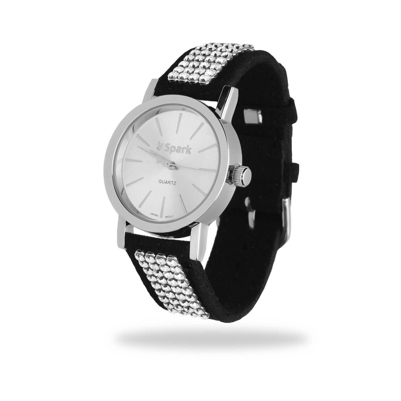 женские модные часы с камнями сваровски